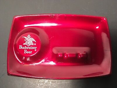 1974 Budweiser Ashtray. Painted Tin. New. Collectible Beer Ashtray