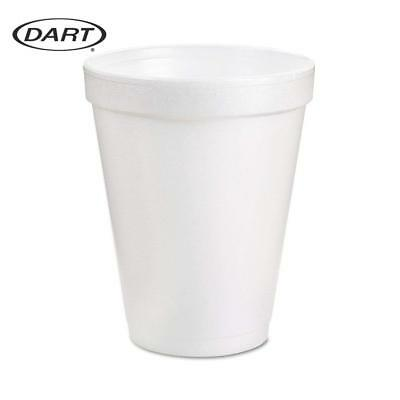 Dart 8 Oz White Disposable Coffee Foam Cups Hot and Cold Drink Cup Pack of 102