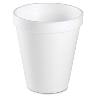 Dart 8 Oz White Disposable Coffee Foam Cups Hot and Cold Drink Cup Pack of 75