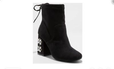 0a3e7587789 NEW A NEW Day Maria Ankle Boots Block Heel Sock Booties Women s Size ...