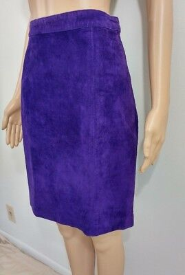 Vintage Purple Suede Skirt.by Rock Creek, Size 12 – pre-owned