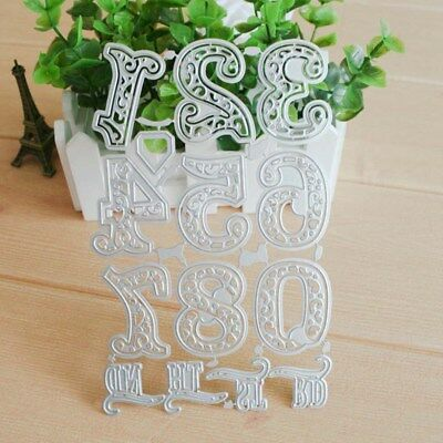 UK Lace Numbers Metal Cutting Dies Stencil Scrapbooking Embossing Card Craft HOT