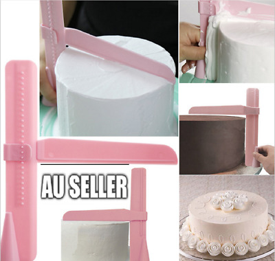 Adjustable Fondant Cake Scraper Icing Piping Cream Spatula Edges Smoother Craft