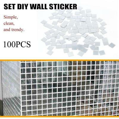 100Pcs/Pack Self Adhesive Mosaic Tile Sticker Home Kitchen Decor Art Wall Decals