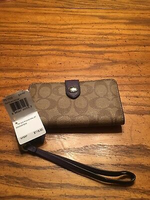 BNWT Coach signature peyton phone wallet