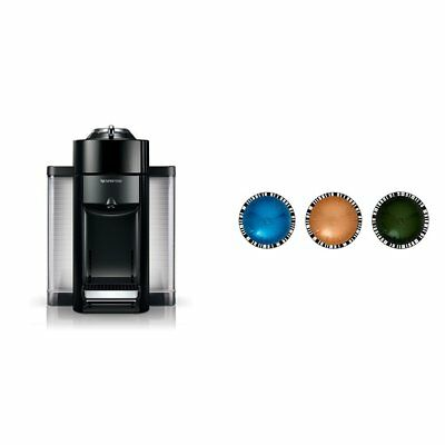 Nespresso Evoluo by De'Longhi, Black and Vertuoline Best Seller Pods, 30 ct