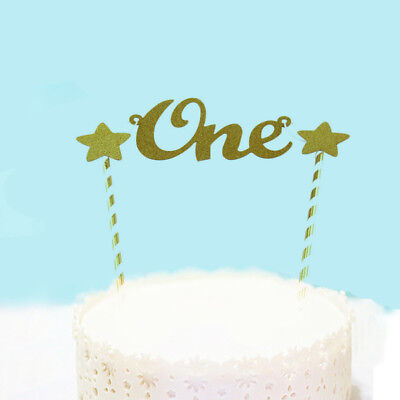 Baby 1st Birthday Cake Topper Party Supplies Bunting Banner Decorations