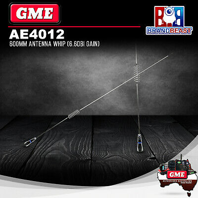 GME AE4012 UHF Antenna Whip Stainless Steel 6.6Dbi