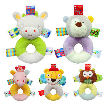 Baby Comfort Plush Toy 0-12 Month Baby Puzzle Pell Cloth Doll Color Label Rattle