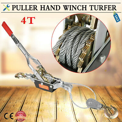 4 Ton Power Puller 4000KG Hand Expert Winch Tools for Trailer Car Lifting Pull
