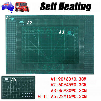 A1 Self Healing Cutting Mat Double-Side Art Craft Quilting Printed Pad + Gift A5