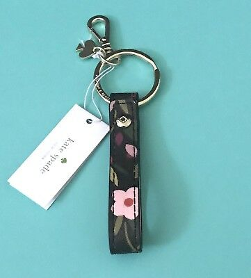Kate Spade Bobo Floral Lanyards Leather Loop Key Chain Fob Ring Brand New