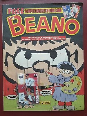 The Beano Comic No.3069 May 2001 Includes Free Gift Football CD ROM Card #B2001
