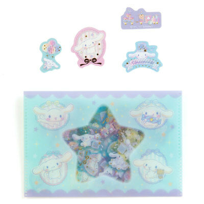 Cinnamoroll Case containing Stickers 45 Pieces Sanrio Kawaii Cute F/S NEW
