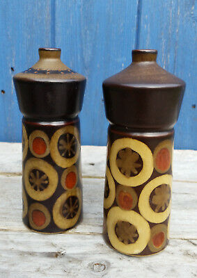 Vintage DENBY ARABESQUE Salt and Pepper Pots 1970s