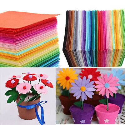22pcs Mixed Color Soft Nonwoven Felt Fabric Sheets 15x15cm DIY Craft Patchwork.