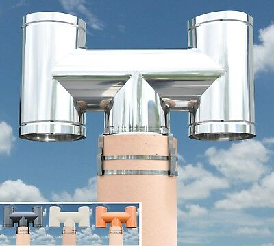 H Chimney Cowl - Stops Down Draught and Promotes Up Draught (Band Fitting)