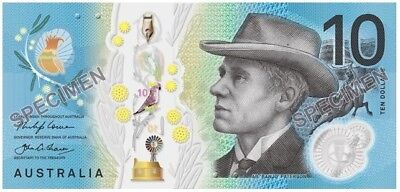 2017 Reserve Bank of Australia Lowe/Fraser $10 Uncirculated Polymer Banknote