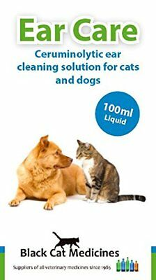 Black Cat Medicines Ear Care - Ear Cleaner Solution for Dogs and Cats 100ml