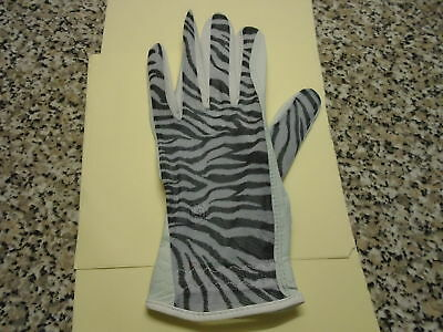 New Evertan Ladies Small Zebra  Print  Glove-Left Hand For Right Handed Players