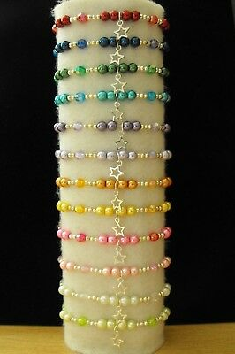 Wholesale Jewellery Childrens Joblot Beaded Charm Bracelets,party Bags,1,6,12