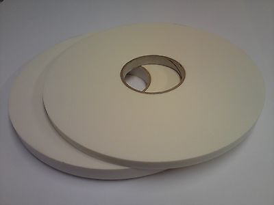 High Quality White Double-Sided Foam Tape; 12mm x 50m