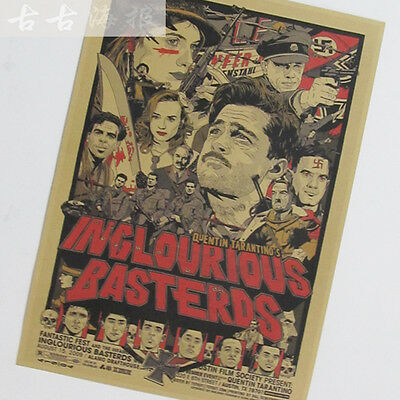 Inglourious Basterds Old Movie Poster Quentin Tarantino Decor Poster