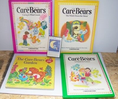 Care Bears Books & Sing Along Care Bears Tape - Vintage