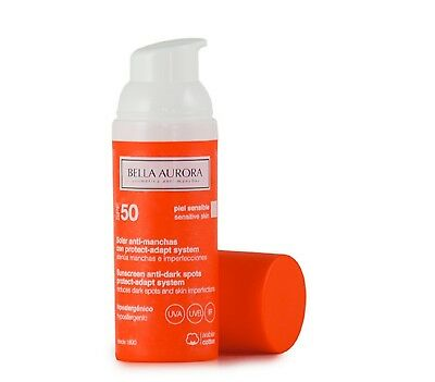 Crema Solar Antimanchas SPF50 Piel sensible 50ml Bella Aurora Proteccion Sol