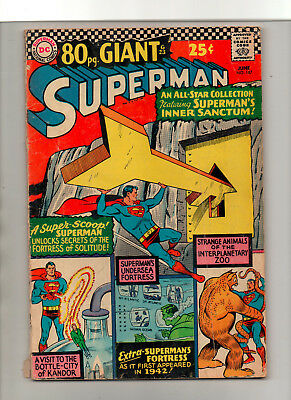 Superman #187 - 80 Page Giant Kandor Fortress Of Solitude - (Grade 3.0) 1966