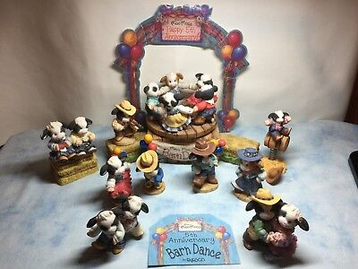 Complete Set Mary Moo Moos - Hoofy Anniversary Barn Dance From 1999