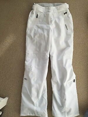 ladies white Kjus Formula ski pants