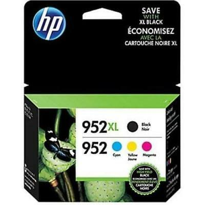 Genuine HP 952XL Black & 952 Cyan Magenta Yellow Ink Cartridges Exp. 2019