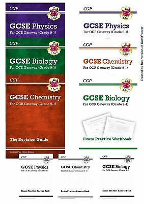 Ocr Gateway Science Physics Chemistry, Biology, Revision Guide Workbook +Answers
