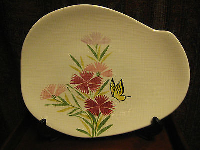 VINTAGE RED WING PINK SPICE PLATTER HAND PAINTED USA c 1950's