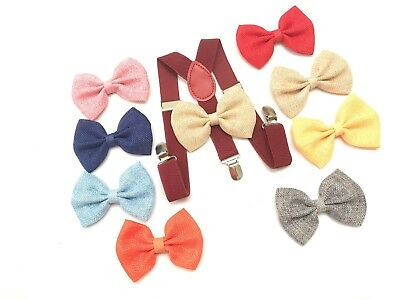 Suspender and Bow Tie Burgundy Baby Toddler Kids Boys Girls Child SETS USA selle