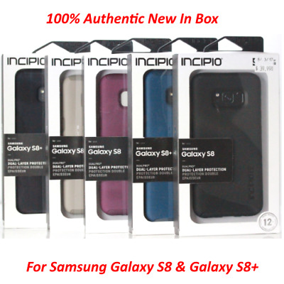 Incipio Dualpro Shockproof Hybrid Rugged Cover Case For Samsung Galaxy S8 & S8+