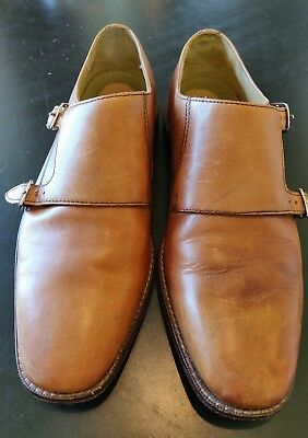ccfdcb992579c COLE HAAN GIRALDO Double Monk Strap Shoe - Tan - Men s size 7.5M - C12445