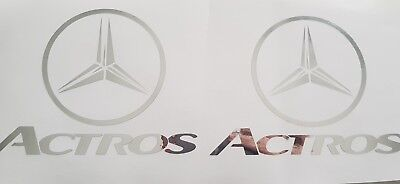 Mercedes Benz Actros Chrome Decal/Sticker X2 Truck Lorry Haulage