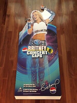 Britney Spears Pepsi Standee - New!  Life-Size Cardboard Cutout -