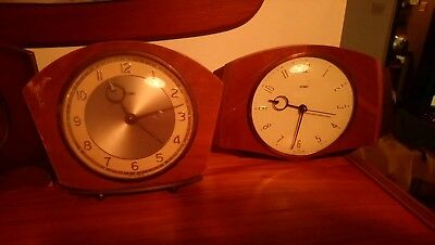 Job Lot Of METAMEC teak Clocks