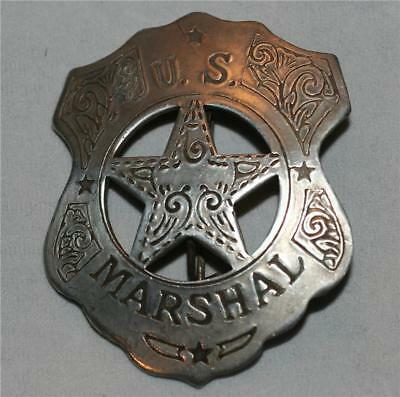 US MARSHAL Gunsmoke Tombstone OLD WEST WESTERN BADGE Novelty TOY PROP COSTUME