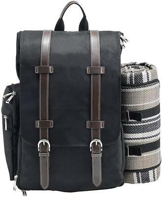 Picnic Backpack | Basket | Stylish All-in-One Portable Bag for 2 with...