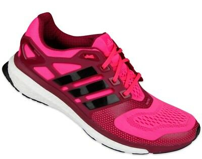 CHAUSSURES RUNNING FEMME Adidas Bleu Orange Energy Boost Baskets Techfit 39 13