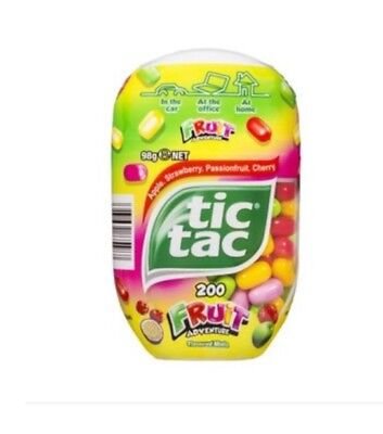 1 Pack of Tic TAC FRUIT ADVENTURE - 98g Pack - NEW