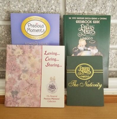 4 Collectors Guides/Books Precious Moments Greenbook, Company Dolls +Plus