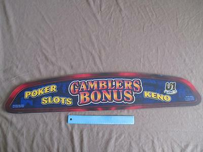 """Gamblers Bonus"" Real Video Poker Sign From Old Vegas Stardust Casino (CC109)"