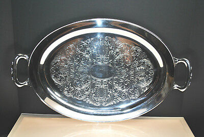 Gorgeous Large Antique Wm. A. Rogers Silver Plate Serving Tray Circa Pre-1865