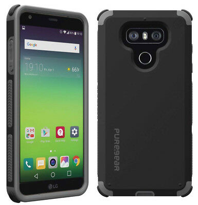 PureGear Matte Black Dualtek Extreme Rugged Case Cover for LG G6