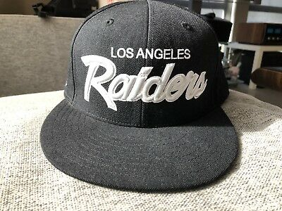 Los Angeles Raiders Mitchell And Ness Fitted Hat sz 8 Rare new era Vintage  1 of 7Only ... e3307990e
